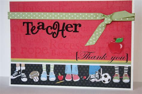 Handmade Thank You Cards For Teachers - thank you handmade card
