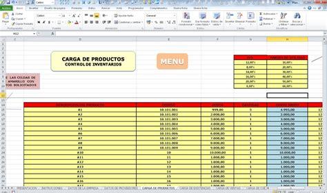 control de inventario en excel control de inventarios ventas compras plantilla en excel