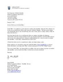 reference letter the university of british columbia