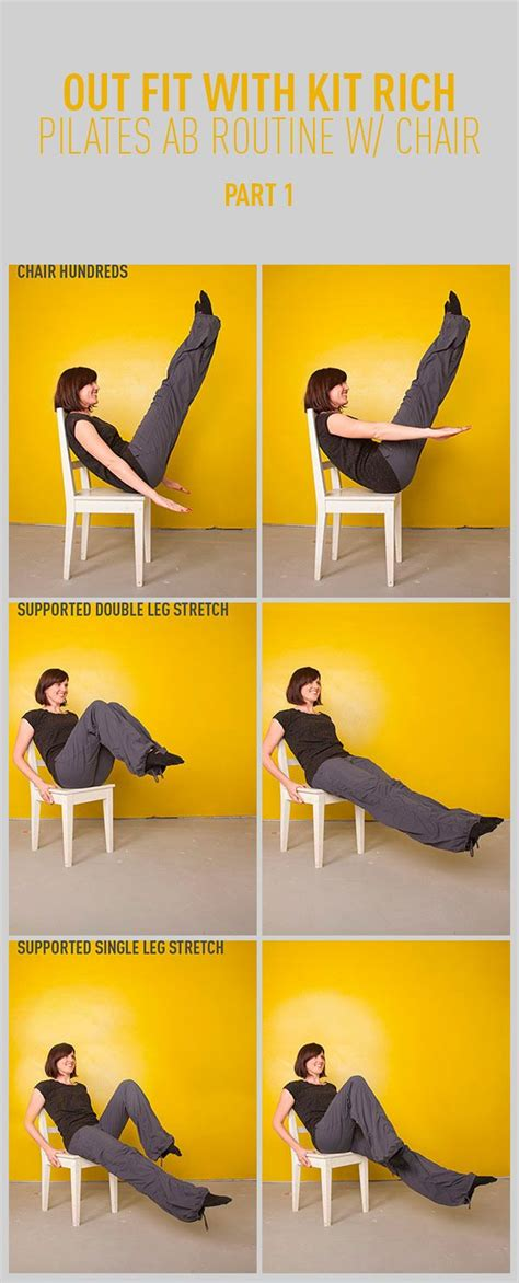 chair exercises at work for stomach pilates abs workout with a chair part one pilates abs
