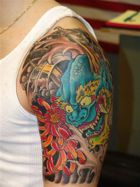 japanese oni tattoo oni by anthony lawton tattoonow