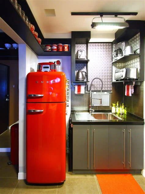 Kulkas Smeg 75 geladeiras coloridas na decora 231 227 o de cozinhas