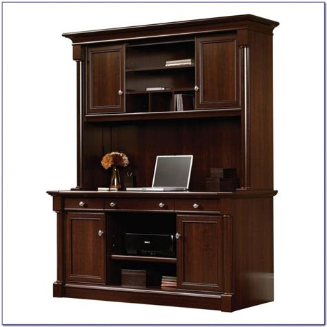 sauder beginnings traditional corner desk cinnamon cherry