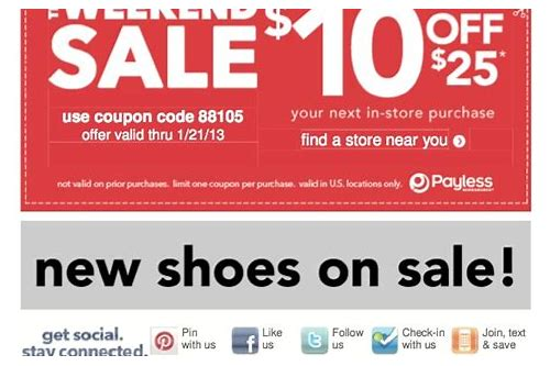 coupon payless shoe