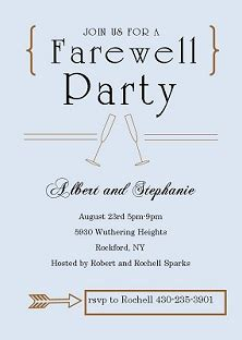 printable farewell poster party invitations best farewell party invitation wording