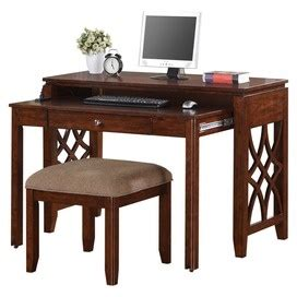 2 Tier Desk by Two Tiered Desk With Stool Office