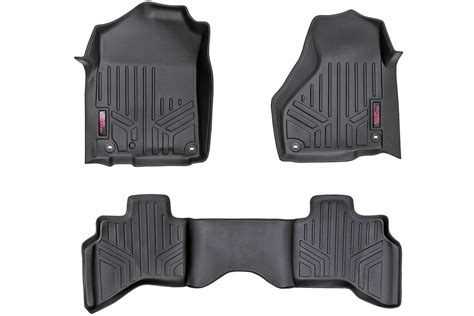 heavy duty fitted floor mats front rear for 2002 2008 dodge ram 1500 pickup quad cab pickup m