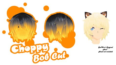 Mmd Parts Hair Choppy Bob Cut Dl By Colorsoforion Art Mmd Male Hairstyles Dl