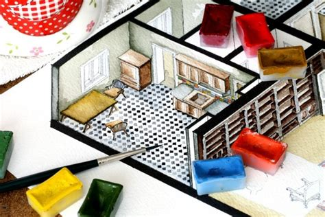 watercolor floorplans from recent television shows and films watercolor floorplans from recent television shows and