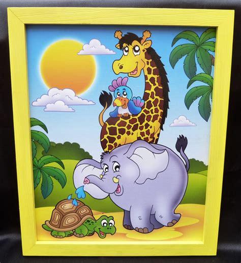 kinderzimmer bild papagei bilder f 252 r s kinderzimmer giraffe papagei elefant