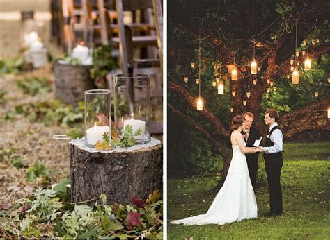 tree stump aisle decor   Highlands, NC wedding inspiration