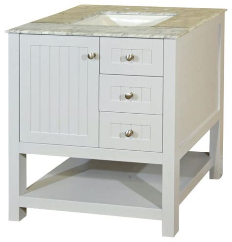 farmhouse bathroom vanity cabinets bellaterra home 29 inch single sink vanity wood white