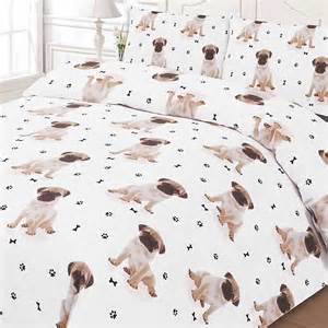 Double Bed Duvet Covers Pug Duvet Set Look Again