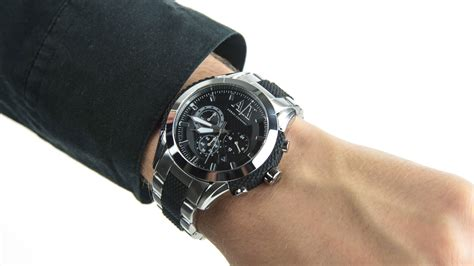 Armani Exchange Gents Active Stainless Steel Bracelet Watch AX1214   YouTube