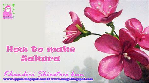 cara bikin pita bunga cara membuat bunga sakura dari pita ribbon sakura youtube
