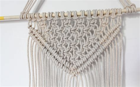Macrame Wall Hanging Tutorial - dip dyed macrame wall hanging tutorial diary