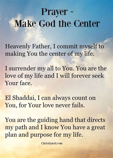 make god the center prayer bible spiritual and scriptures