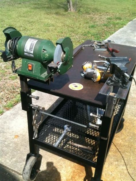 how to mount a bench grinder recievers for the vice and bench grinder interesting idea