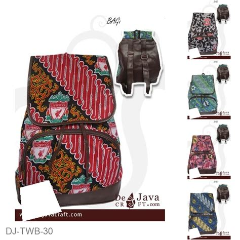 Tas Ransel Motif Batik tas ransel batik saku satu motif batik bola liverpool