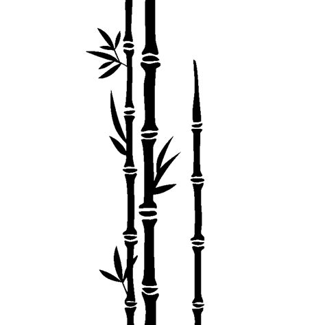 Stickerstiker Kaca Bambu 3 stickers muraux fleurs sticker trois tiges de bambous ambiance sticker