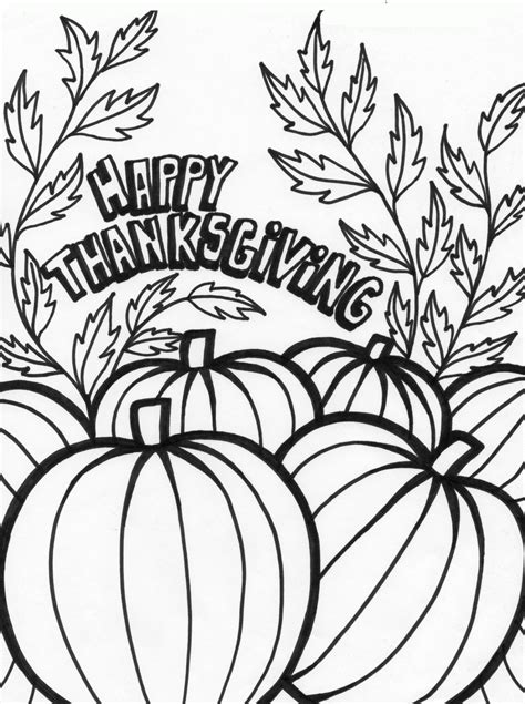 coloring pages of thanksgiving images happy thanksgiving coloring pages