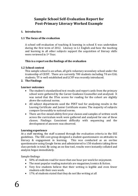 self appraisal report sle sle evaluation report 28 images sle program evaluation