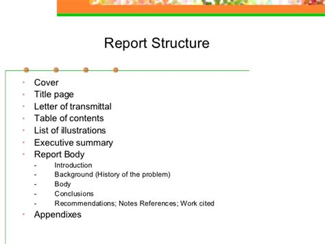 Report Letter Structure Report Writing
