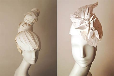Origami Hats You Can Wear - paper hair to go with your paper dress teacups couture