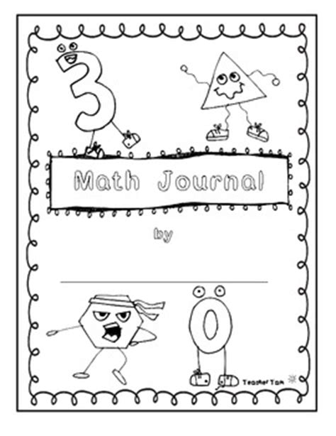 math journal coloring page free here are 2 free math journal covers for students to