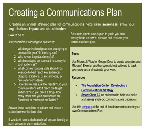 marketing communications plan template pdf 11 communication strategy templates free sle