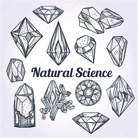 手绘水晶套宝石 自然科学 图库矢量图像 169 katja87 90074670