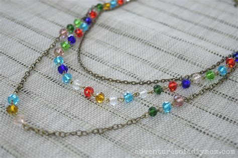 Beaded Multi Chain Necklace easy beaded chain multi strand necklace adventures of a