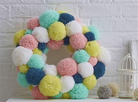 spring pom pom wreath hobbycraft blog