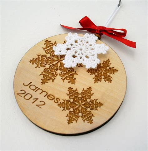 personalized christmas ornament wooden laser engraved