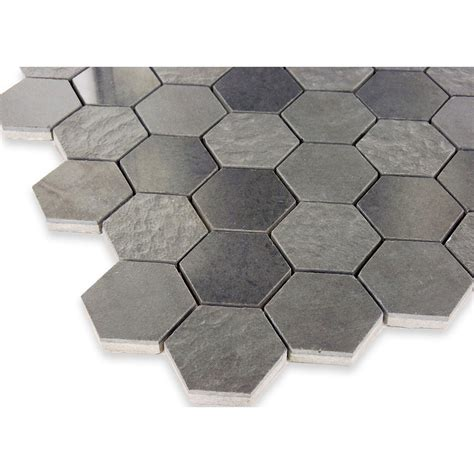 grey hexagon tile hexagon porcelain tile glass tile oasis