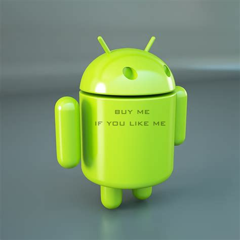 android mascot official android os logo mascot 3d model robots 3ds max dxf fbx c4d lwo lws lw ma mb obj