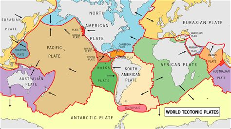 map of tectonic plates map of world tectonic plates tectonic maps of the world planetolog