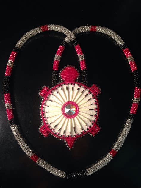beadwork ideas another custom ordered beaded turtle medallion with quills