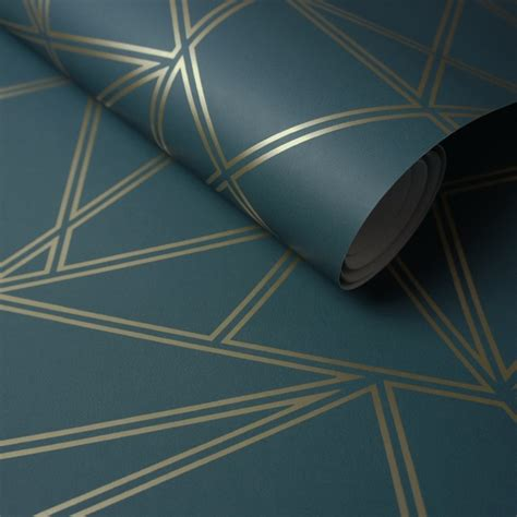 tealgold palladium geometric wallpaper wallpaper sales