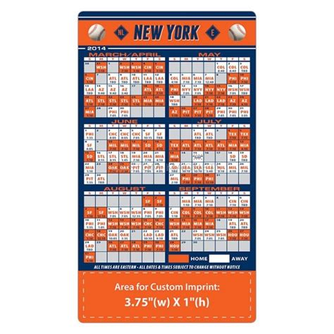 new york mets baseball team schedule magnets 4 quot x 7
