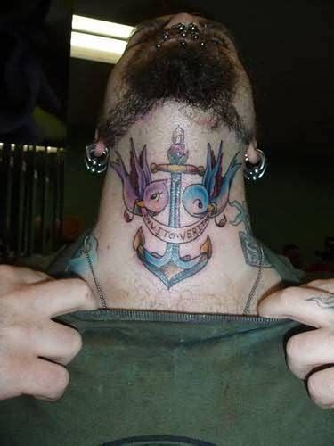 neck tattoo anchor neck tattoo images designs