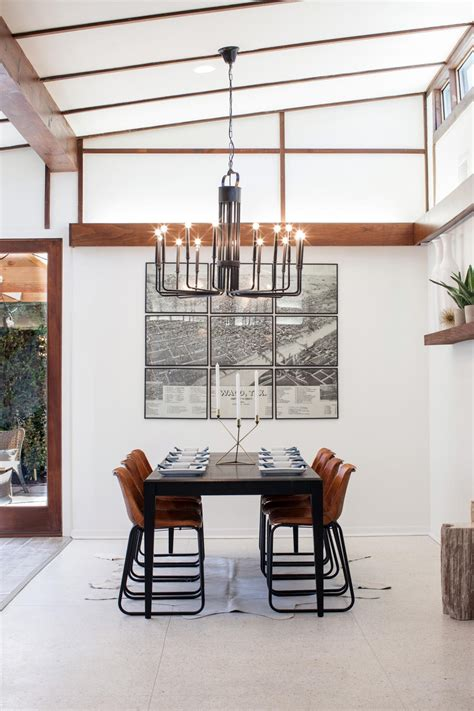 Joanna Gaines Dining Room Lighting A Fixer Take On Midcentury Modern Hgtv S Fixer