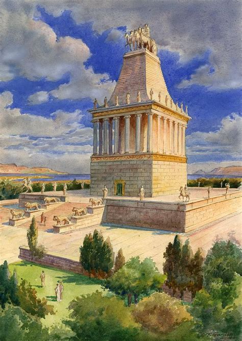 Kid Duvet Covers The Mausoleum At Halicarnassus Painting By English