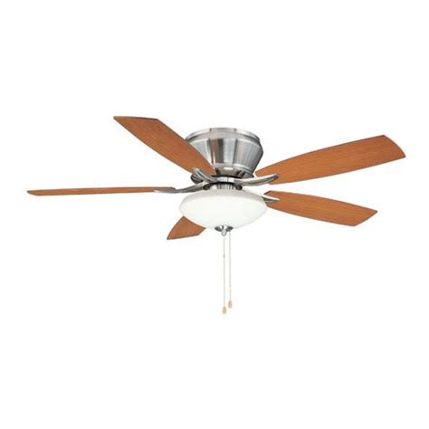 harbor breeze bathroom fan parts harbor breeze 48 in buccaneer bay brushed nickel indoor