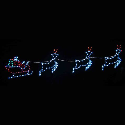 santa sleigh reindeer led light display 16 8 w