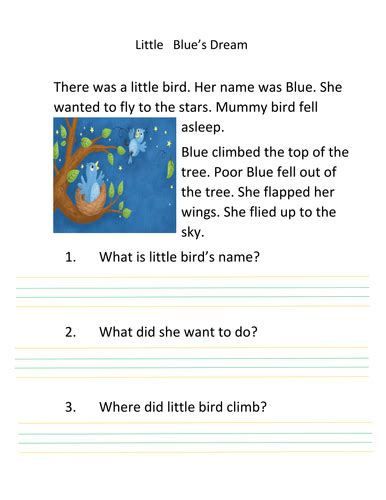 printable reading comprehension year 2 year 2 reading comprehension writing by gulnazz teaching