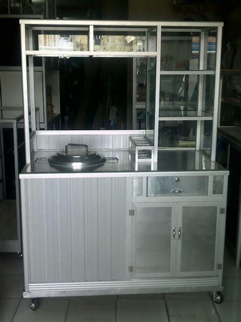 Meja Etalase penjualan etalase meja alumunium gerobak makanan rak
