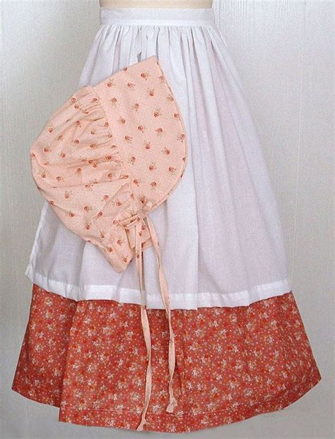 pattern for apron bonnet woman s morman trail trek pioneer prairie 3 pcs skirt