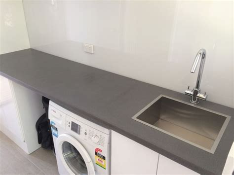 laundry bench tops polished concrete laundry benchtop by mitchell bink