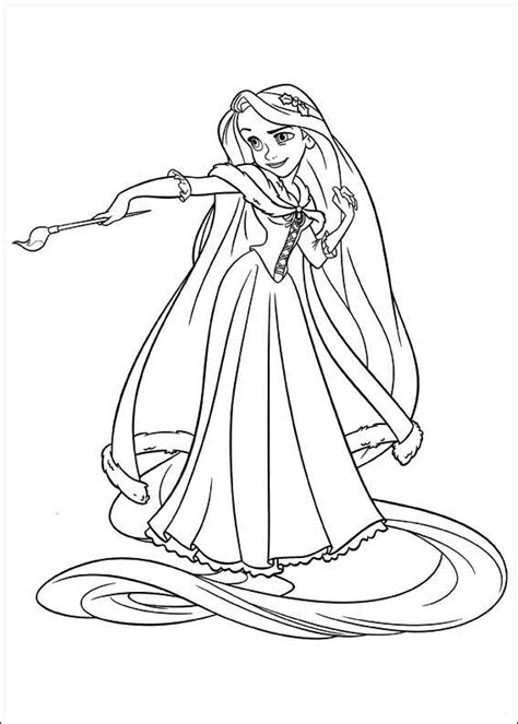 Princess Rapunzel Tangled Disney Coloring Pages Coloring Pages Rapunzel